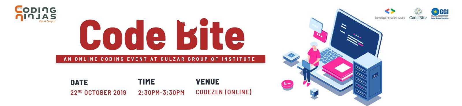 Code Bite- An online Coding event