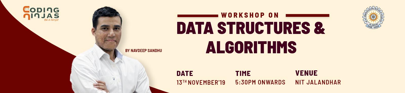 Data Structures and Algorithms workshop at NIT Jalandhar