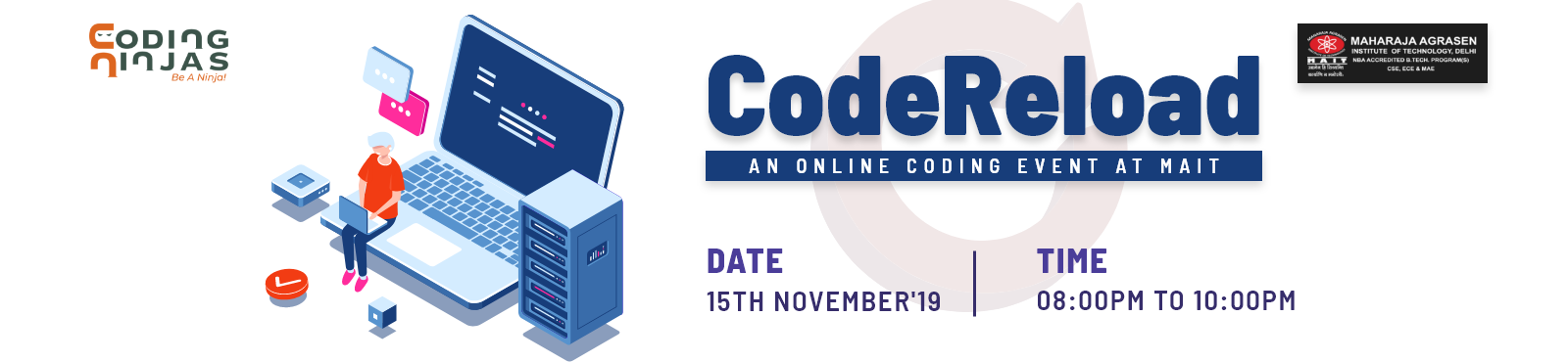 CodeReload- An online coding event