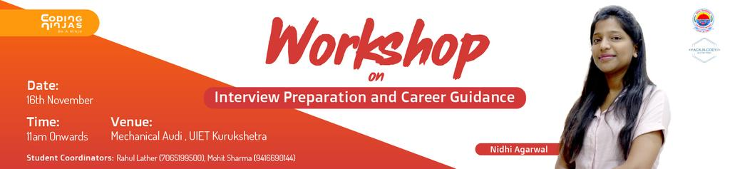 Workshop on Interview Preparation and Career Guidance