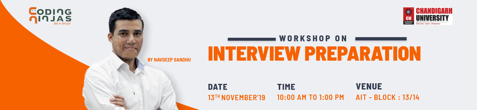 Interview preparation workshop at Chandigarh University