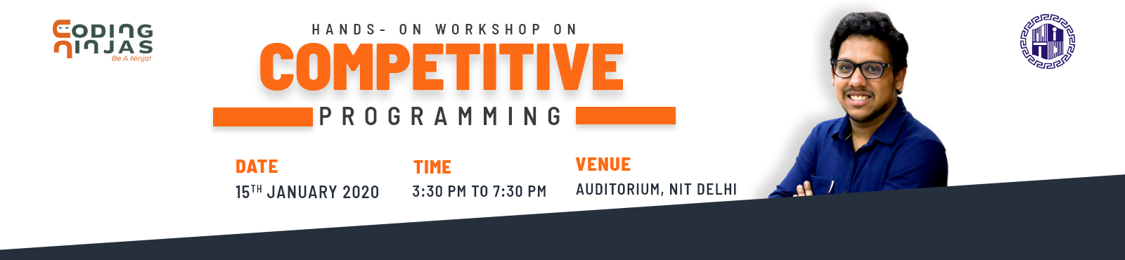 Workshop on Competitive Programming at NIT Delhi on 15th January'20