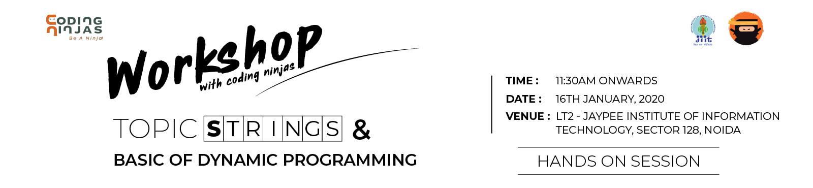 JIIT- Workshop with Coding Ninjas