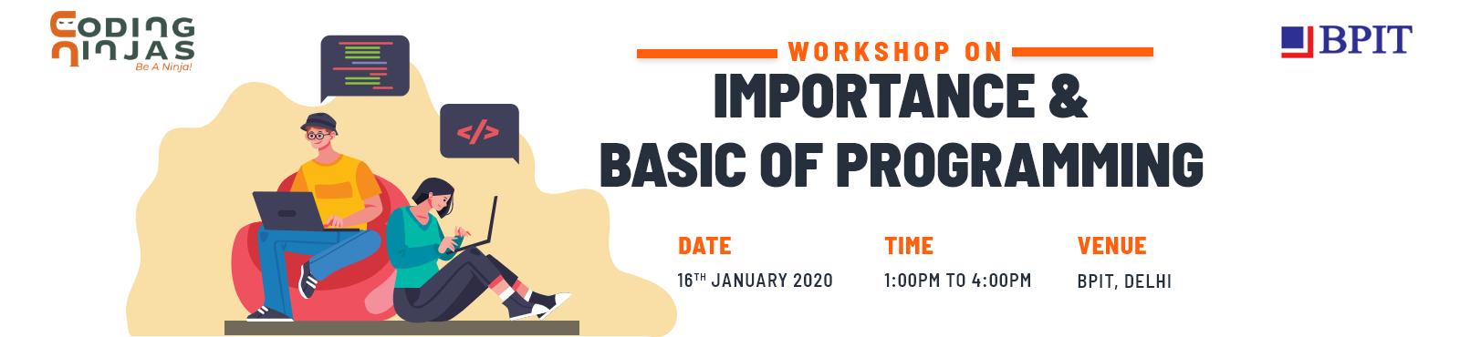 Importance and Basics of Programming at BPIT