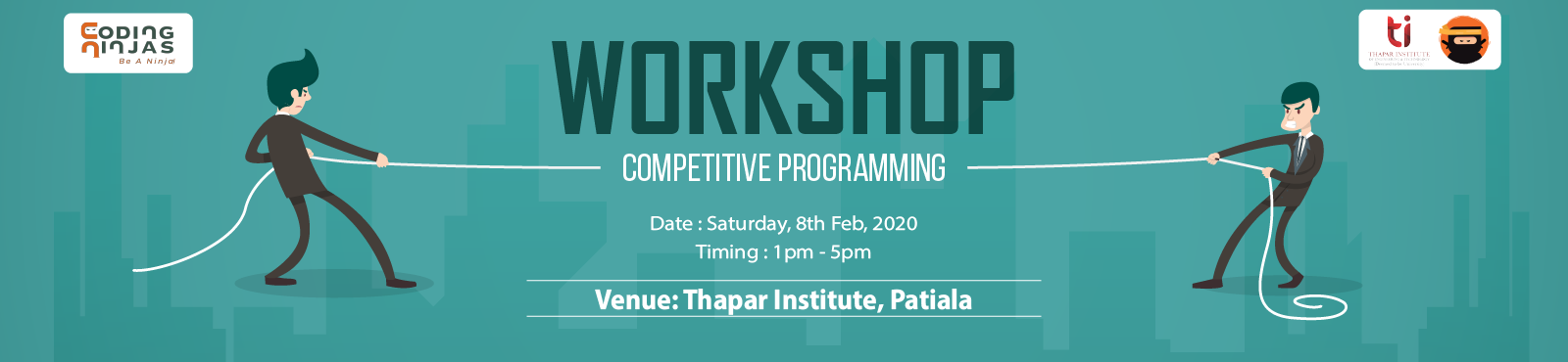 Workshop on Competitive Programming at Thapar Institute of Engineering & Technology, Patiala