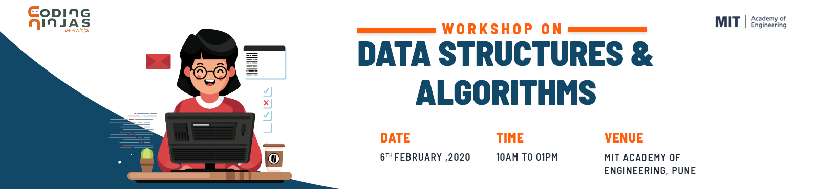 Data Structure and Algorithms workshop at MIT Academy of Engineering, Pune