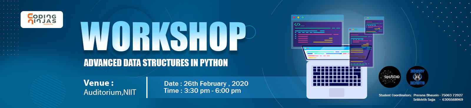 Workshop Advance Data Structure Python- NIIT