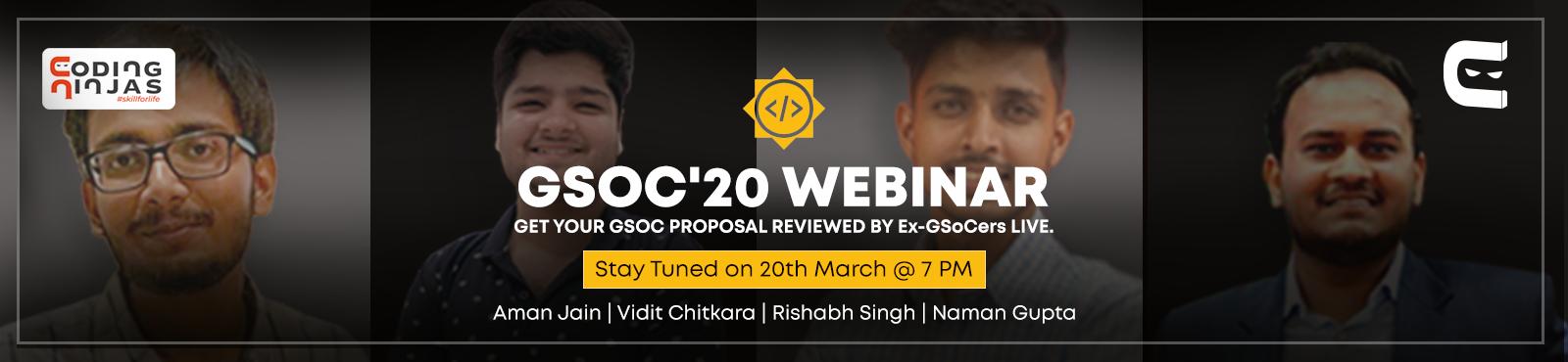 GSoC'20 Webinar